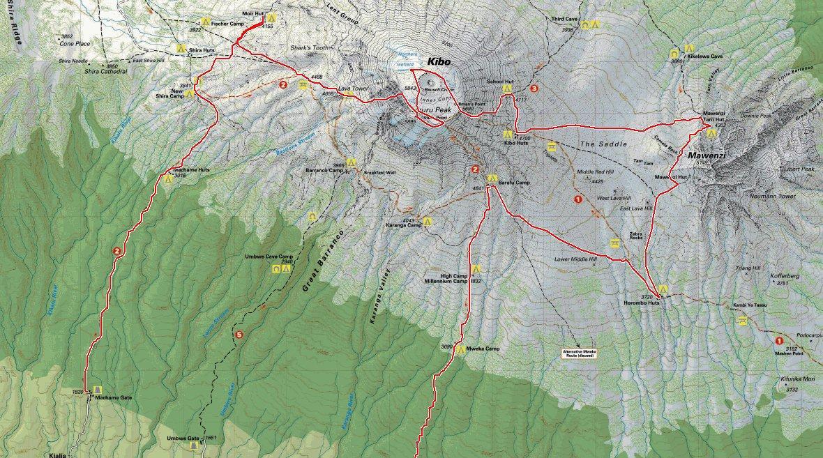 David Squire Kilimanjaro Route