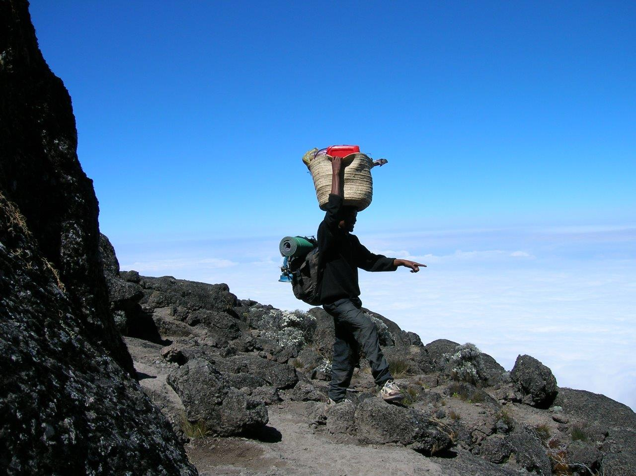 Kilimanjaro Porter with Bag on Head